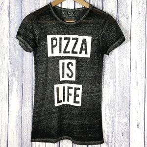 Fifth Sun Pizza Is Life Graphic Tee s1-20